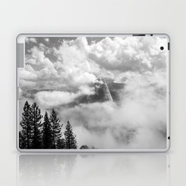 Half Dome in the Clouds, Yosemite National Park, Yosemite Photography, Black and White Photography Laptop & iPad Skin