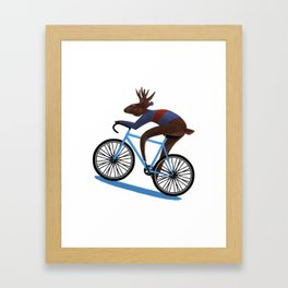 'Tis the season to be cycling Framed Art Print