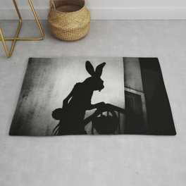 The Easter Bunny is Coming Rug