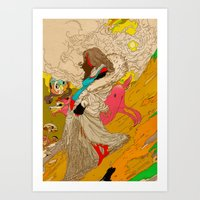 mother Art Prints featuring MOTHER by kasi minami