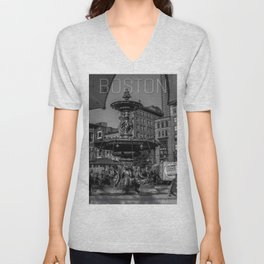 A Gleam of Sunshine - Boston Common Fountain Unisex V-Neck