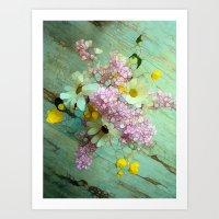 country Art Prints featuring country flowers by Joke Vermeer