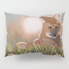 Maned Wolf at Sunset Pillow Sham