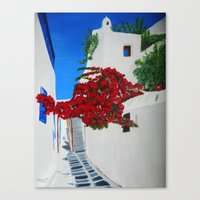 greece Canvas Prints featuring Greece by maggs326