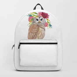 Owl with flower crown Backpack