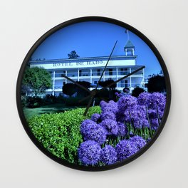 Summer at Roche Harbor Wall Clock