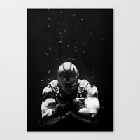 bane Canvas Prints featuring Bane by Sam Rowe Illustration