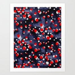 Seeing Red Spots Art Print