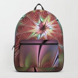 Abstract Fantasy Flower, Fractal Art Backpack