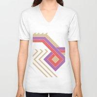 ethnic V-neck T-shirts featuring ethnic diamond by S V E