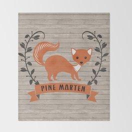 Pine Marten Throw Blanket