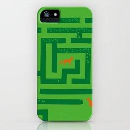 Fox in a maze iPhone Case