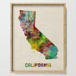 California Watercolor Map Serving Tray