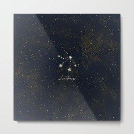 Libra - Rose Gold Metal Print