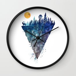 Sunrise, eagle, fores Wall Clock