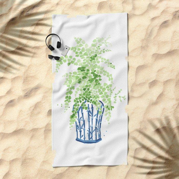 Ginger Jar + Maidenhair Fern Beach Towel