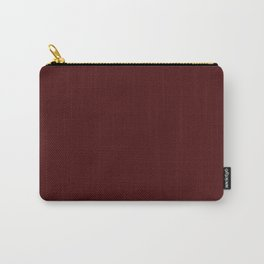 Simply Maroon Red Carry-All Pouch