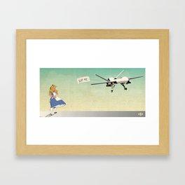 Drone Alice Framed Art Print