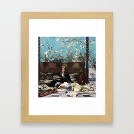 Oriental Lovers Framed Art Print