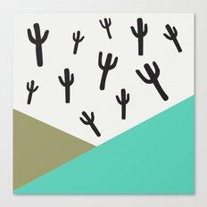 Cactus – Minty Canvas Print