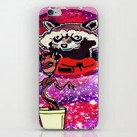 superheros iPhone & iPod Skins featuring Buddies by grapeloverarts