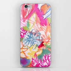 Abstract Watercolor Flowers iPhone & iPod Skin