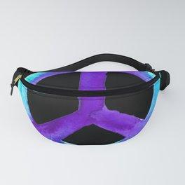 Turquoise Purple Peace Black Tiedye Fanny Pack