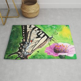 Butterfly - Morning light - by LiliFlore Rug