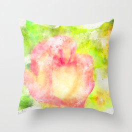 Colorful, fresh and beauty rose Throw Pillow