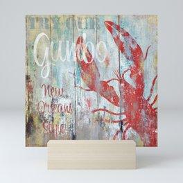 New Orleans Gumbo Sign Mini Art Print
