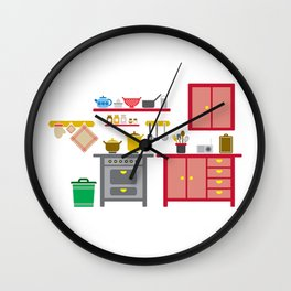 a kitchen Wall Clock