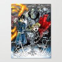 fullmetal Canvas Prints featuring Fullmetal Alchemist by MarioRojas