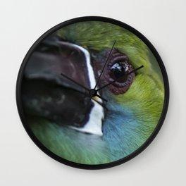 tucan esmeralda Wall Clock