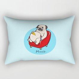 Pug Mood Rectangular Pillow