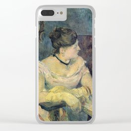 Paul Gauguin - Madame Mette Gauguin in Evening Dress (1884) Clear iPhone Case