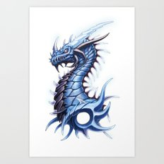 Thunder Dragon Art Print