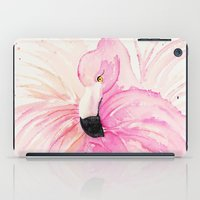 flamingo iPad Cases featuring FLAMINGO by Monika Strigel