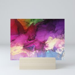 Pour your art out in hot pink Mini Art Print