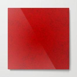 Red suede Metal Print