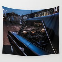 da vinci Wall Tapestries featuring Da Dodge by HappyMelvin