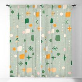 Atomic Pattern Green  #midcenturymodern Blackout Curtain