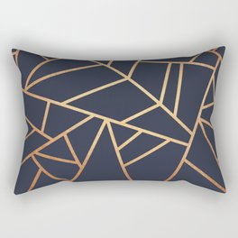 Copper and Midnight Navy Rectangular Pillow
