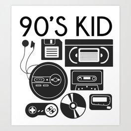 90s Kid Art Print