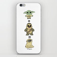 The origin of pugs iPhone & iPod Skin