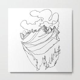 Valhalla Valley :: Single Line Metal Print