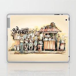 Kolkata India Sketch in Watercolor   City View   Street Food Stall   Calcutta West Bengal Laptop & iPad Skin