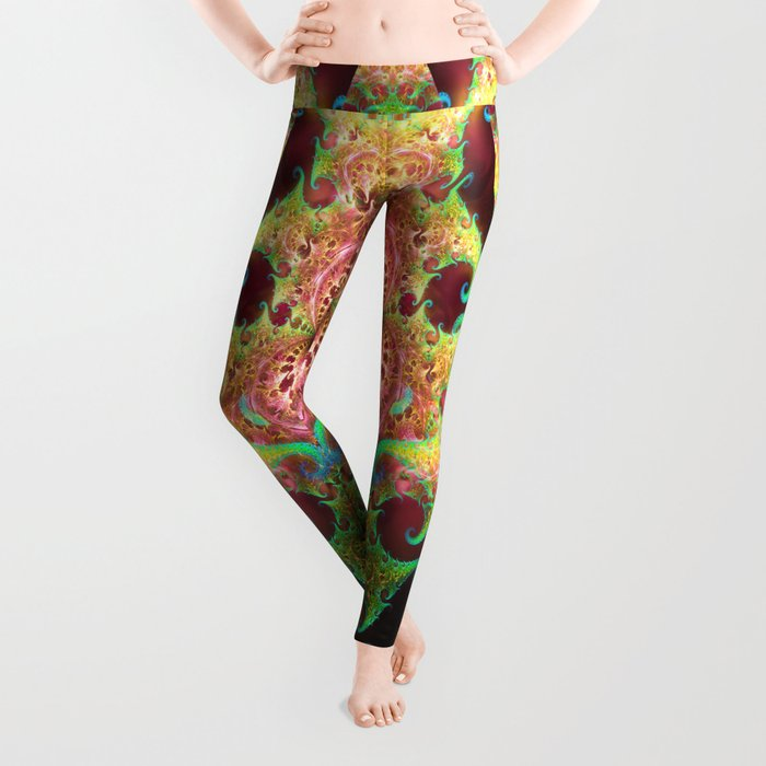 Groovy abstract with spiral patterns Leggings