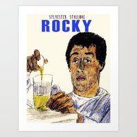 rocky Art Prints featuring Rocky by AdrockHoward