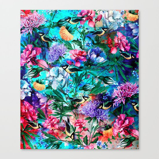 RPE Seamless Floral & Birds IV Canvas Print