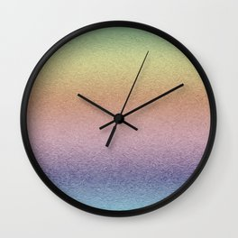 Rainbow Glaze Wall Clock